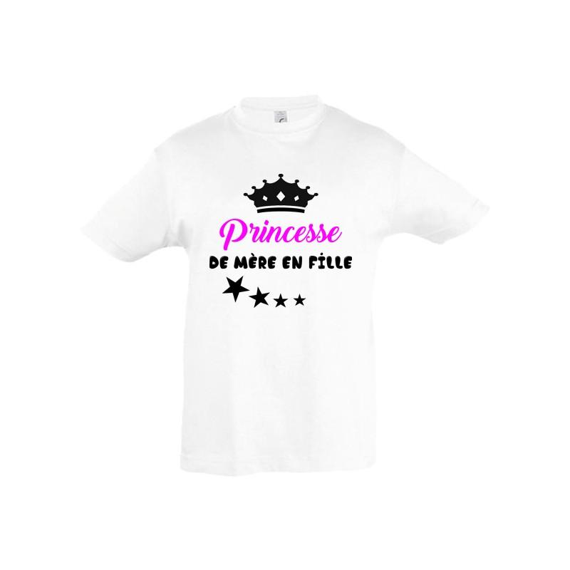 Tee shirt enfant princesse de mère en fille