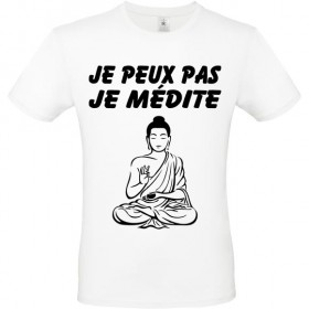 Tee shirt Bouddha je médite