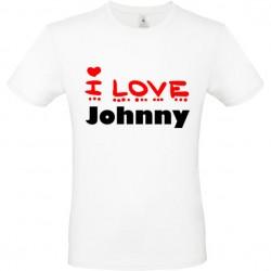 Tee shirt i love Johnny ou...