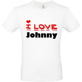 Tee shirt i love Johnny ou...
