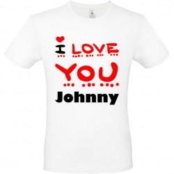 Tee shirt i love you texte personnalisable