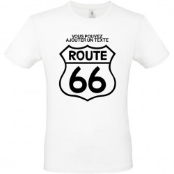 Tee shirt route 66 personnalisable ref 1