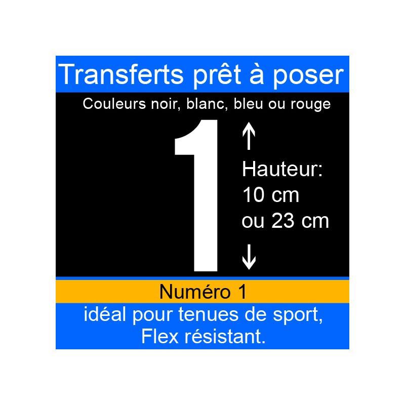 Transfert prêt à poser numéro 1 hauteur 10 cm ou 23 cm