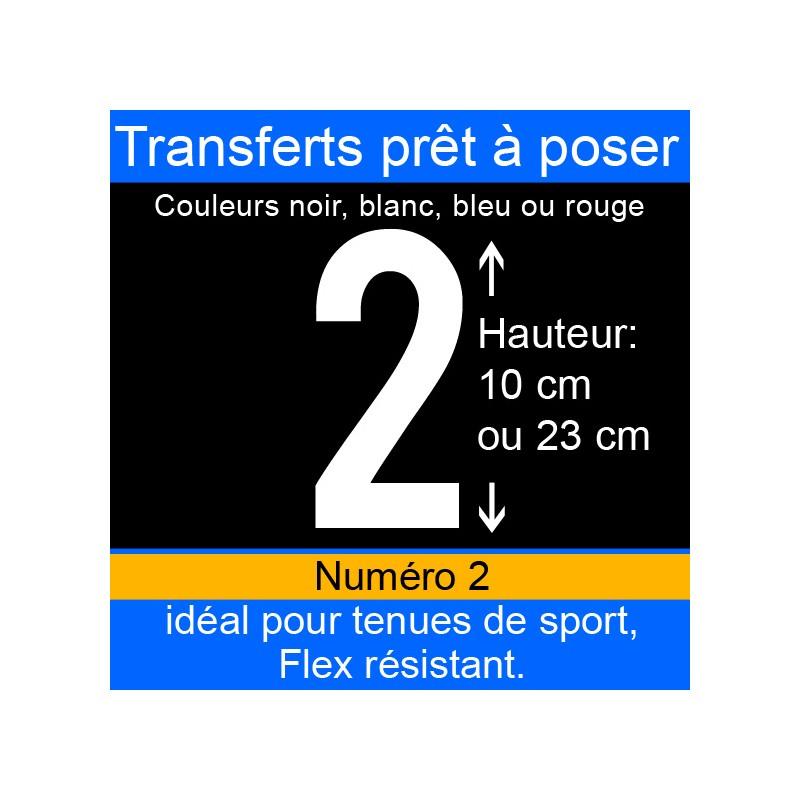 Transfert prêt à poser numéro 2 hauteur 10 cm ou 23 cm