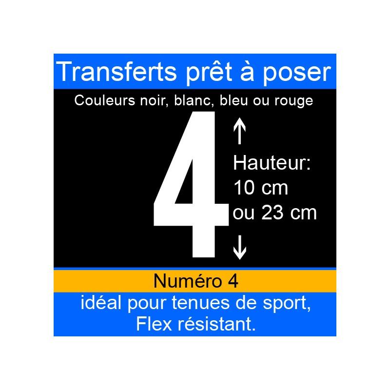 Transfert prêt à poser numéro 4 hauteur 10 cm ou 23 cm