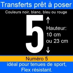 Transfert prêt à poser numéro 5 hauteur 10 cm ou 23 cm