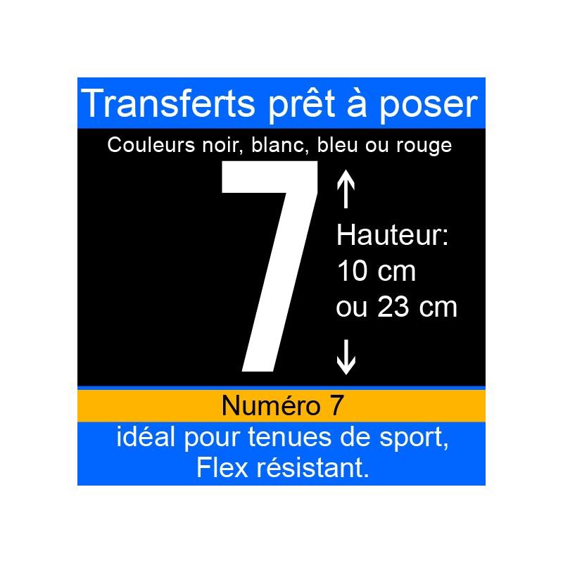 Transfert prêt à poser numéro 7 hauteur 10 cm ou 23 cm