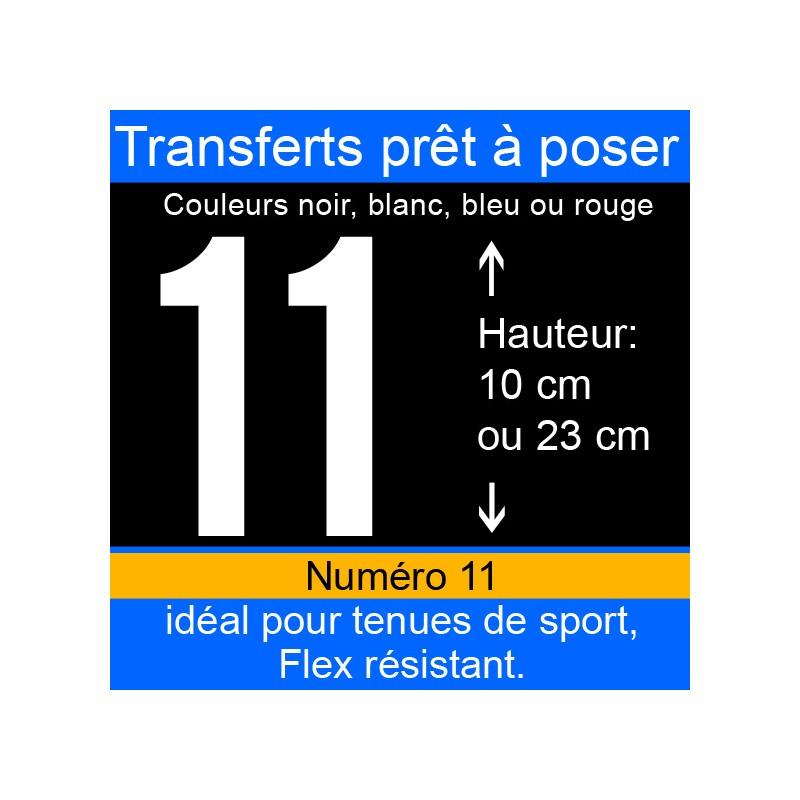 Transfert prêt à poser numéro 11 hauteur 10 cm ou 23 cm