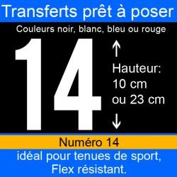 Transfert prêt à poser numéro 14 hauteur 10 cm ou 23 cm