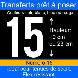 Transfert prêt à poser numéro 15 hauteur 10 cm ou 23 cm