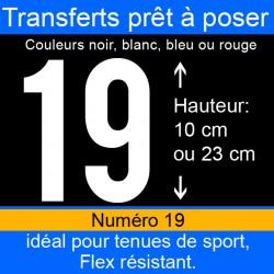 Transfert prêt à poser numéro 19 hauteur 10 cm ou 23 cm