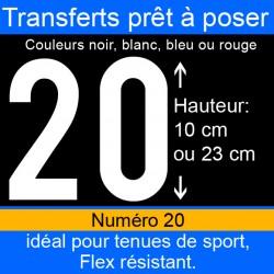 Transfert prêt à poser numéro 20 hauteur 10 cm ou 23 cm