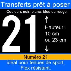Transfert prêt à poser numéro 21 hauteur 10 cm ou 23 cm