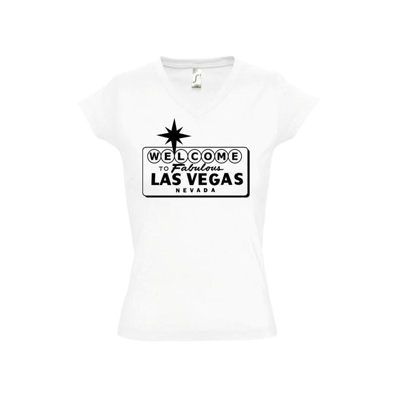 Tee shirt femme Las Vegas personnalisable
