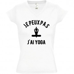 Tee shirt femme je peux pas j'ai yoga
