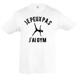 Tee shirt enfant je peux pas j'ai gym