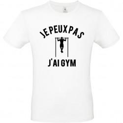 Tee shirt je peux pas j'ai gym homme