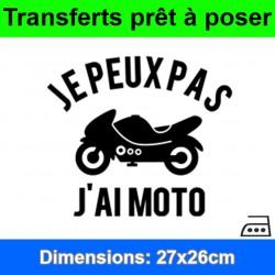 Sticker transfert je peux pas j'ai moto ref 2