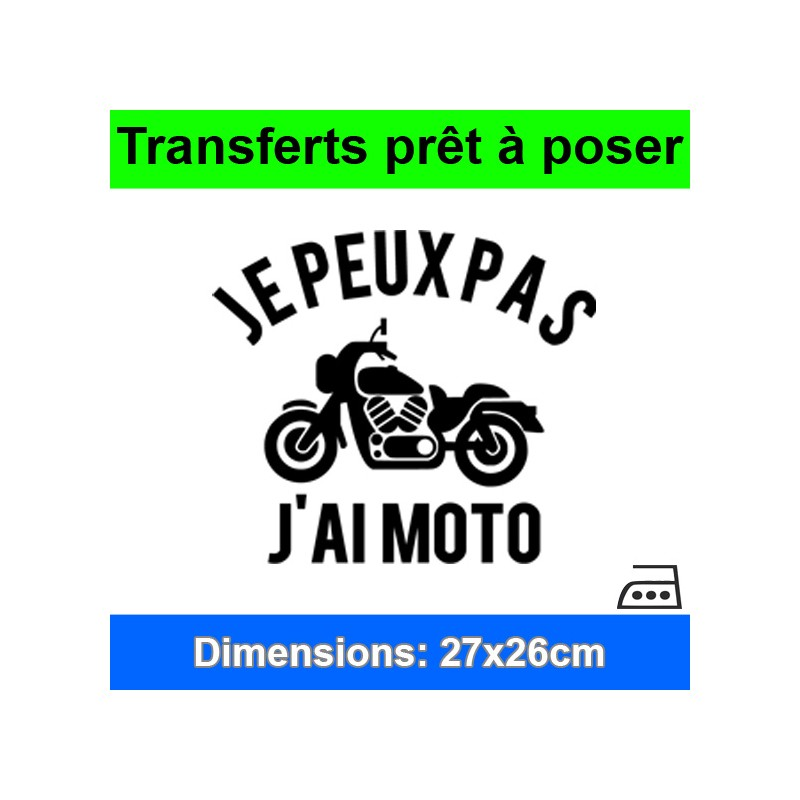 Sticker transfert je peux pas j'ai moto ref 1