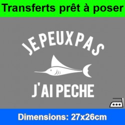 Sticker transfert je peux pas j'ai pêche ref 1