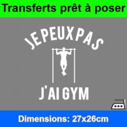 Sticker transfert je peux pas j'ai gym