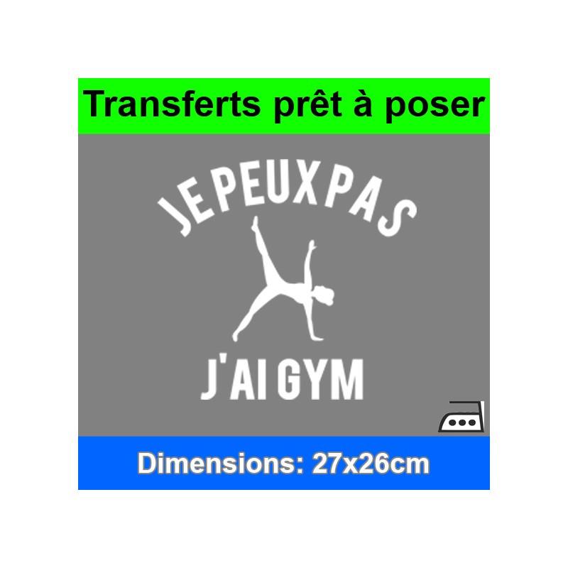 Sticker transfert je peux pas j'ai gym femme