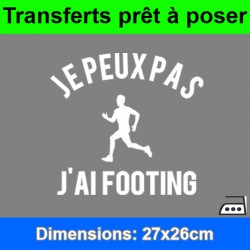 Sticker transfert je peux pas j'ai footing