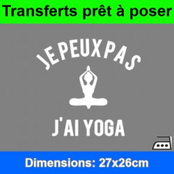 Sticker transfert je peux pas j'ai yoga