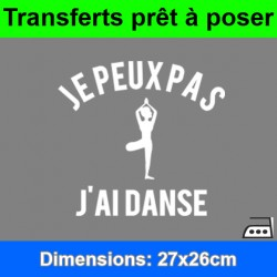 Sticker transfert je peux pas j'ai danse