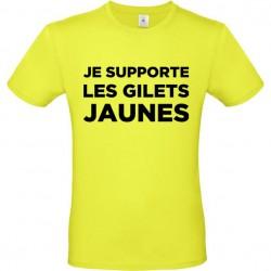 Tee shirt Je supporte les Gilets jaunes