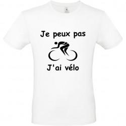 Tee shirt je peux pas j'ai vélo