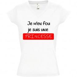 Tee shirt je m'en fou je suis une princesse